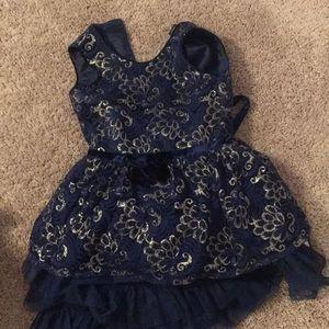 blue and hold G E O R G E dress